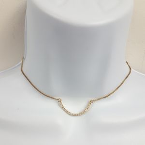 Feminine Adjustable Gold Color Chain Choker